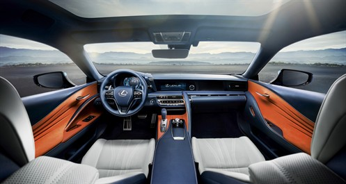 IMAGE- Lexus LC500h 2017 Steel blue interior (overseas model shown)